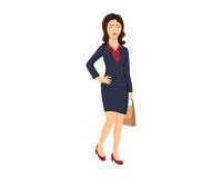 Ilustração da mulher de negócio Imagens de Stock