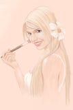 Ilustração da mulher nova ilustração royalty free