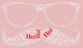 Ilustração da nuvem da palavra relativa a Santa Claus Foto de Stock