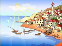 Ilustração da paisagem Fotografia de Stock