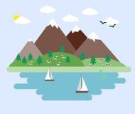 Ilustração da paisagem abstrata Imagens de Stock Royalty Free