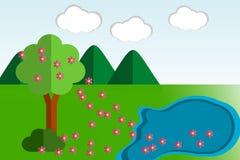 Ilustração da paisagem da natureza Foto de Stock