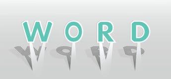 Ilustração da palavra da PALAVRA Imagens de Stock