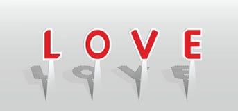 Ilustração da palavra do amor Foto de Stock