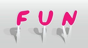 Ilustração da palavra do divertimento Foto de Stock