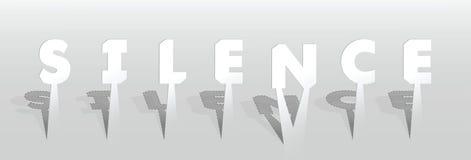 Ilustração da palavra do silêncio Imagem de Stock