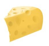 Ilustração da parte isolada de queijo Imagens de Stock Royalty Free