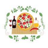 Ilustração da pizza Fotografia de Stock