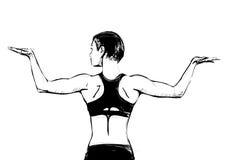 Ilustração da pose da ginástica aeróbica Foto de Stock