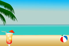 Ilustração da praia Imagem de Stock