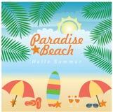 Ilustração da praia do verão Fotografia de Stock Royalty Free