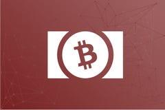 Ilustração da rede do logotipo de BCH do dinheiro de Bitcoin ilustração royalty free