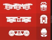 Ilustração da roda do trem Fotos de Stock