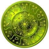 Ilustração da roda do zodíaco Imagens de Stock Royalty Free