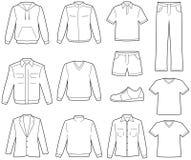 Ilustração da roupa ocasional de Menâs