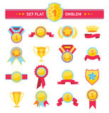 Ilustração da série das fitas e das bandeiras do vintage de Imagens de Stock