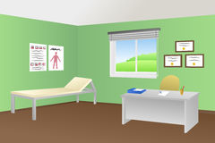 Ilustração da sala da clínica do escritório do doutor Fotografia de Stock