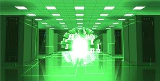 Ilustração da sala do servidor Inteligência artificial ilustração royalty free