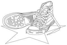 Ilustração da sapatilha ilustração royalty free