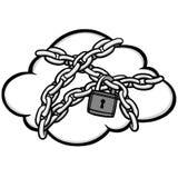 Ilustração da segurança da nuvem ilustração do vetor