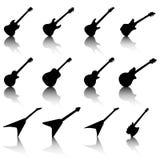 Ilustração da silhueta da guitarra Imagens de Stock Royalty Free