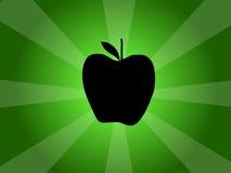 Ilustração da silhueta do vetor de Apple Fotografia de Stock Royalty Free