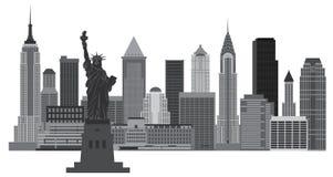 Ilustração da skyline de New York City ilustração stock