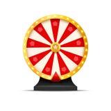 Ilustração da sorte da loteria da roda da fortuna Jogo de azar do casino Roleta da fortuna da vitória Lazer da possibilidade do j Fotografia de Stock