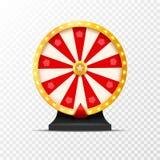 Ilustração da sorte da loteria da roda da fortuna isolada Jogo de azar do casino Roleta da fortuna da vitória Lazer da possibilid ilustração do vetor