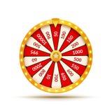 Ilustração da sorte da loteria da roda da fortuna Jogo de azar do casino Roleta da fortuna da vitória Lazer da possibilidade do j ilustração stock