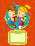 Ilustração da tampa - boa para a tampa ou o diploma - ilustração para as crianças ilustração royalty free