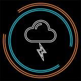 Ilustração da tempestade do tempo, símbolo da chuva do sol ilustração do vetor