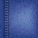 Tela da sarja de Nimes Fotografia de Stock
