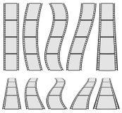 Ilustração da tira do filme para conceitos da fotografia Grupo de diversos Foto de Stock Royalty Free