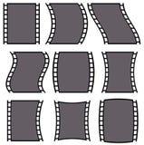 Ilustração da tira do filme para conceitos da fotografia Grupo de diversos Imagens de Stock Royalty Free