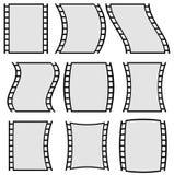 Ilustração da tira do filme para conceitos da fotografia Grupo de diversos Fotografia de Stock