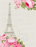 Ilustração da torre Eiffel Imagens de Stock Royalty Free