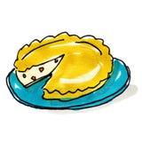 Ilustração da torta Imagens de Stock