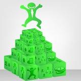 Ilustração da vara dos dados e do homem de negócios para o projeto Imagens de Stock Royalty Free
