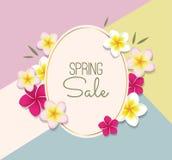 Ilustração da venda da mola com flores Imagem de Stock