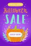 Ilustração da venda de Dia das Bruxas Imagem de Stock