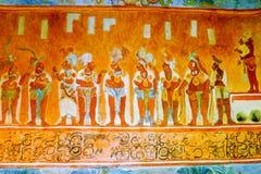 Ilustração da vida de Azteca no museu da antropologia Fotos de Stock