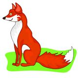 Ilustração da Web da raposa muito bonito ilustração do vetor