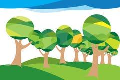 Ilustração das árvores Fotografia de Stock Royalty Free