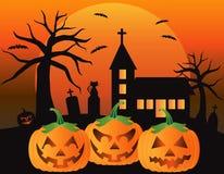 Ilustração das abóboras da lanterna de Halloween Jack O Imagens de Stock Royalty Free