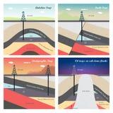 Ilustração das armadilhas de petróleo e gás ilustração do vetor