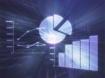 Ilustração das cartas de negócio do Spreadsheet Foto de Stock
