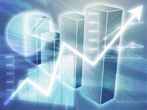 Ilustração das cartas de negócio do Spreadsheet ilustração stock