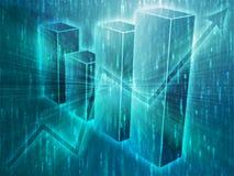 Ilustração das cartas de negócio do Spreadsheet Imagem de Stock