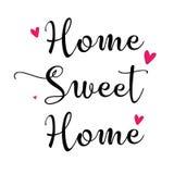 Ilustração das citações - casa doce home ilustração stock